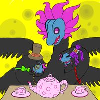 Tea party with myself by josie-chan