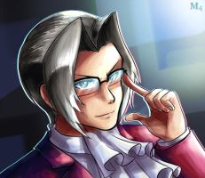 Miles Edgeworth - The Power of Logic by Marini4