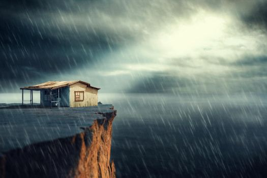 A House and a Cliff by Art-Kombinat