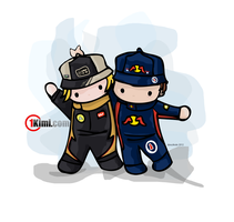 Kimi and Seb by SuziKute