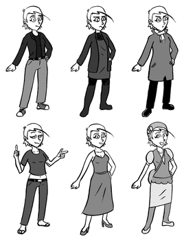 Art College Roommates - Anne's Clothes by fleacollerindustry