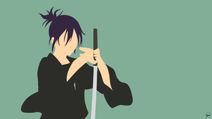 Yato V3 (Noragami) Minimalist Wallpaper by greenmapple17