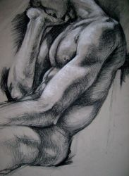 charcoal model by Jimmyct