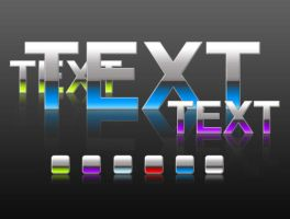 Shiny Text Photoshop Styles by softarea