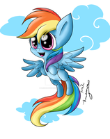 Chibi Rainbow by BlindCatComics