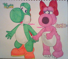 MC Mario Universe: Yoshi and Birdo Mini 'Bios' by MCGoldYoshi