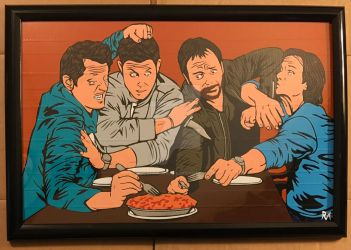 Supernatural EW Duct Tape Art by DuctTapeDesigns