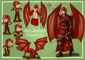 CM - Character Sheet Mellairaloce by LadyRosse