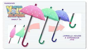 [MMD] Microvolts Umbrella Melee Pack DL by MeekuhGumeeh