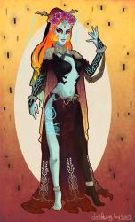 Art Nouveau Hyrule Warriors Midna by AeternumLuminis