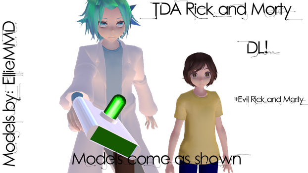MMD TDA Rick and Morty Models DL by EllieMMD