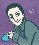 Holmes offers you tea by MissAway
