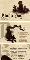 Black dog - Typography specimen (school work) by Daffupanda