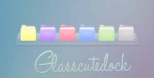 Skin rainmeter Glasscutedock by tutorialslucy