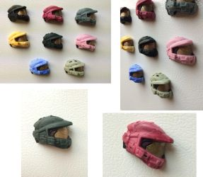 Master Chief Helmet Magnets by xar8