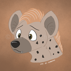 Worried Hyena by Coloran