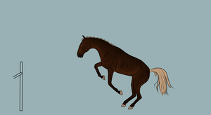 YHH - Warmblood Jumping  !CLOSED! WIP by CalyArt