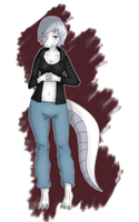 Anthro Lizard Casey by MizuhoTF