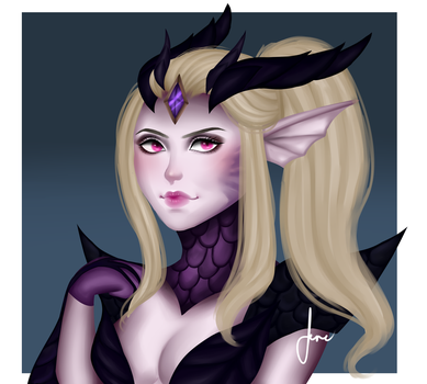 Dragon sorceress Zyra by xEtherealrose