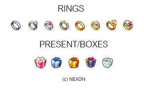 RINGS AND PRESENT/BOXES by iiChicken