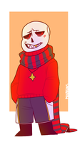 flowerfell!sans by mikarons