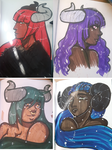 4 Colorful Ladies by JustMiri