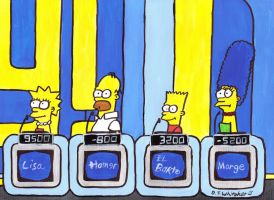 The Simpsons on Super Jeopardy by DJgames