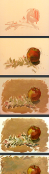Painting Process by Fezte