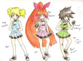 PowerPuff Girls Z by MESS-Anime-Artist