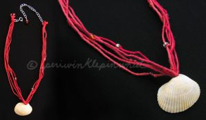 Red Shell Necklace by periwinklepinwheel