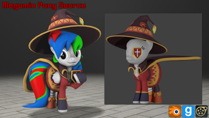 [DL] Megumin Pony Source [Includes Props] by MythicSpeed