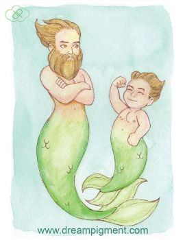 MerMay 2018: Day 29 - Daddy by DreamPigment