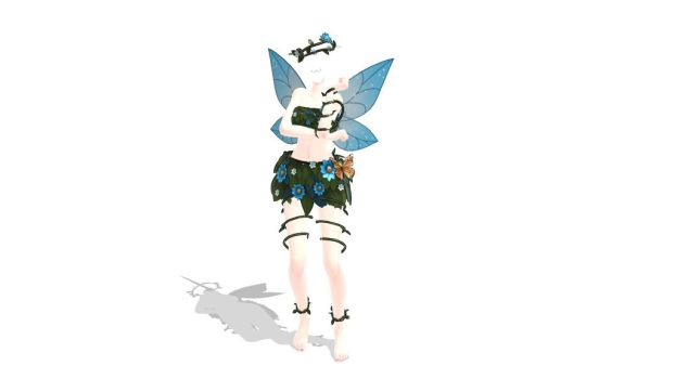mmd Rose Blue Fairy Body download by Entzminger500