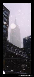 snow in New York by crossbow