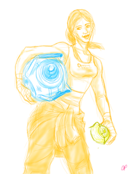 Chell doodle by Cpaek