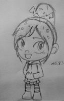 Vanellope sketch new style by summilly
