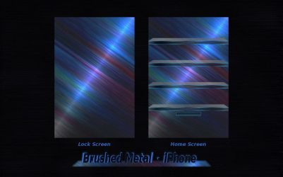 iPhone - Brushed Metal by drankinatty