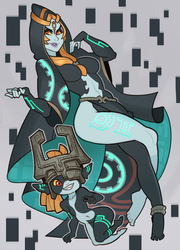 The Legend of Zelda, Midna by SplashBrush