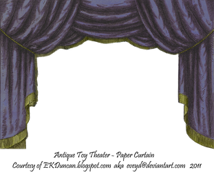 Midnight Toy Theater Curtain 2 by EveyD