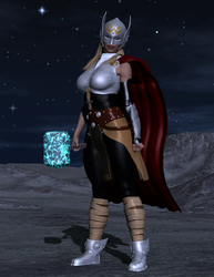 Thor (Jane Foster) - Vigil on the Moon by OrionPax09