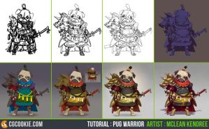 Tutorial Step by Step: Pug Warrior by CGCookie