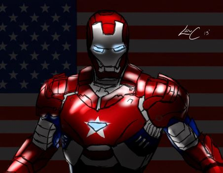 Iron Patriot Sketch by thelincdesign