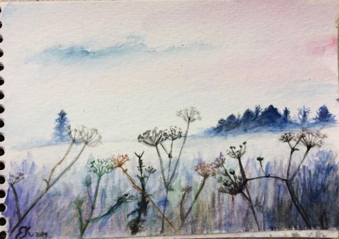 small landscape painting by Emmagro