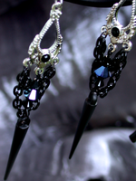 Daggers of Night Earrings (sold) by ArtLoDesigns