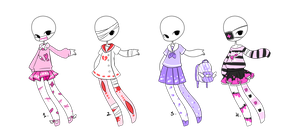 Menhera Outfit Adopts [Moved] by MaiaSadoptsNstuff