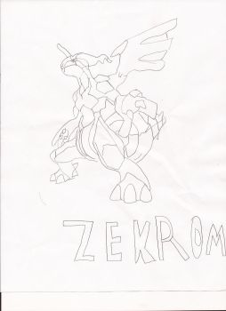 Zekrom {unfinished} by shadictheartist