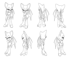 Rouge the bat turning pose by DarkHedgehog23