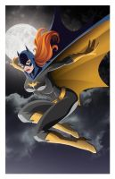 Batgirl In Flight colored by JamieFayX