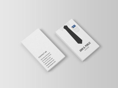Accountant Shirt and Tie Business Cards by es32