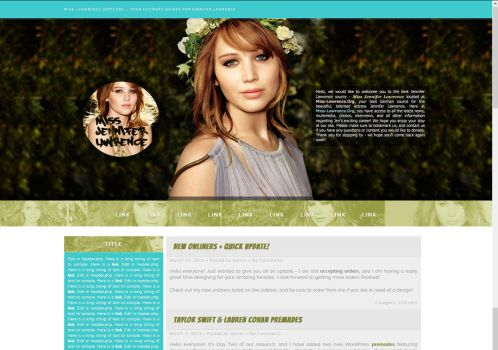 Jennifer Lawrence for Miss-Lawrence.Org by BurningBrightDesigns